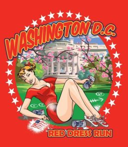 DC Red Dress Run Logo